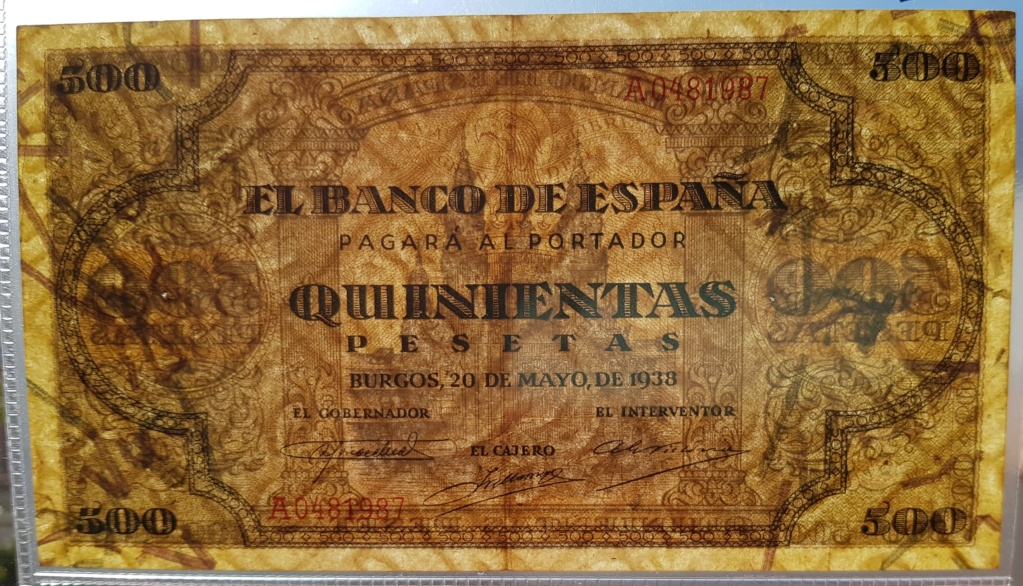Duda entre 2 billetes para avatar - 500 pesetas 1938 20190114
