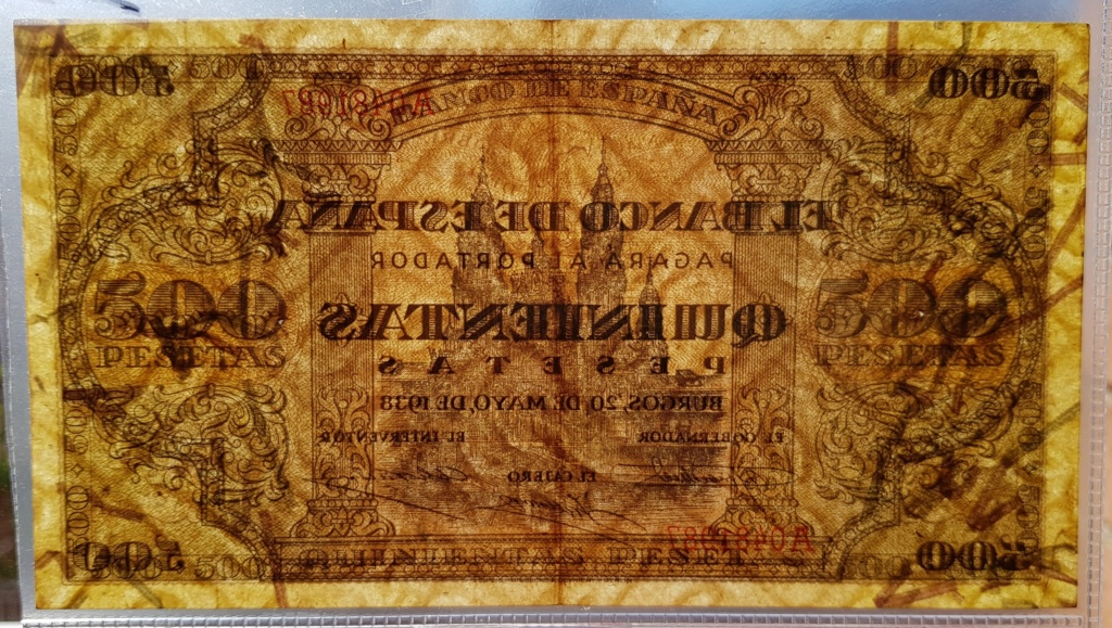 Duda entre 2 billetes para avatar - 500 pesetas 1938 20190115