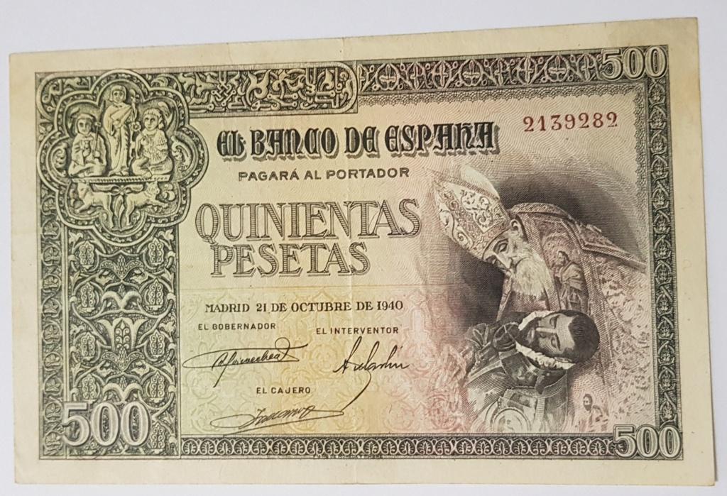 500 Pesetas 1940 (Conde de Orgaz) 20190513