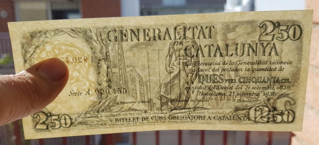 pesetas 1936 Generalitat 20200110
