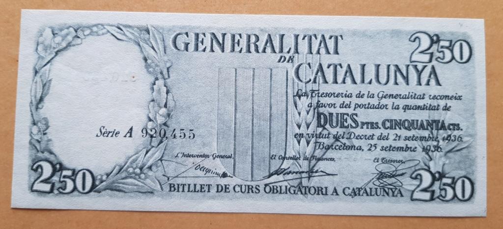 pesetas 1936 Generalitat 20200112