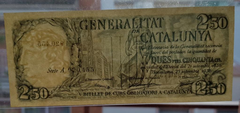pesetas 1936 Generalitat 20200113