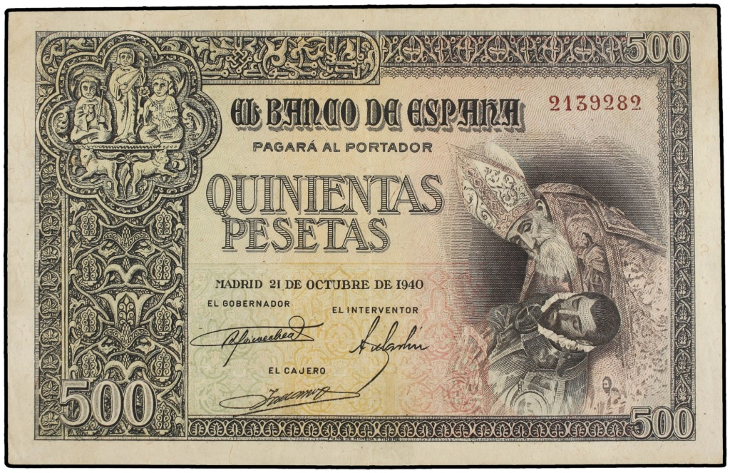 Pareja correlativa 500 pesetas 1940 subasta Marti Hervera 500_1010