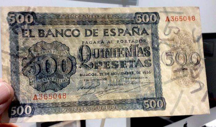 500 pesetas 1936 Ab987110