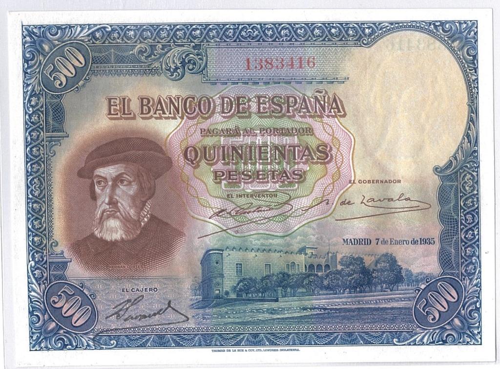 500 pesetas 1935 Esczen10