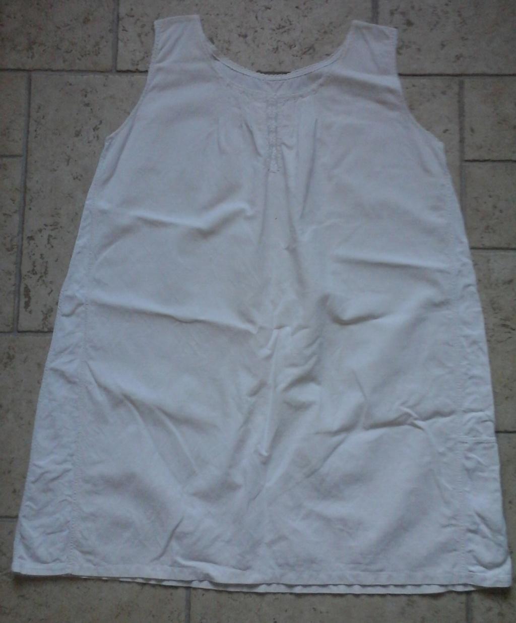 A vendre : chemise en drap de coton 20ème 20181010