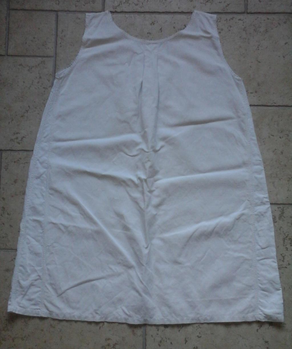 A vendre : chemise en drap de coton 20ème 20181011