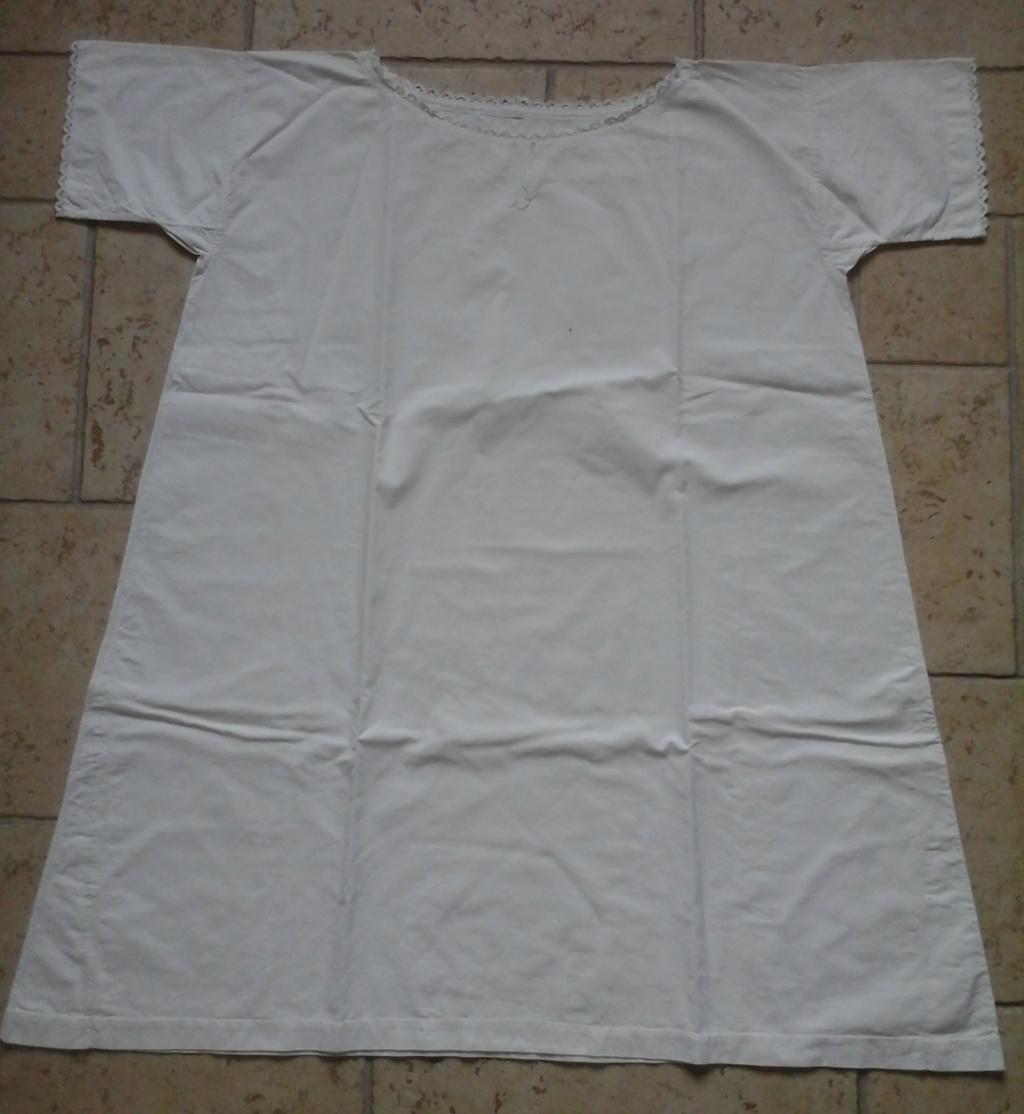 A vendre : chemise en drap de coton 20ème 20181015