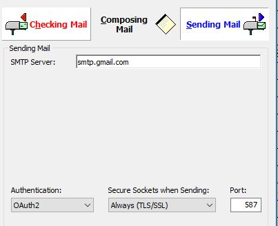 Sending mail not working anymore Captur10