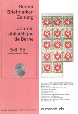 Berner Briefmarken Zeitung (BBZ) - Ausgabe 5-6/95 Bbz5_612