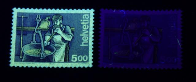 UV Lampen für Schweizer Briefmarken Kaeser10