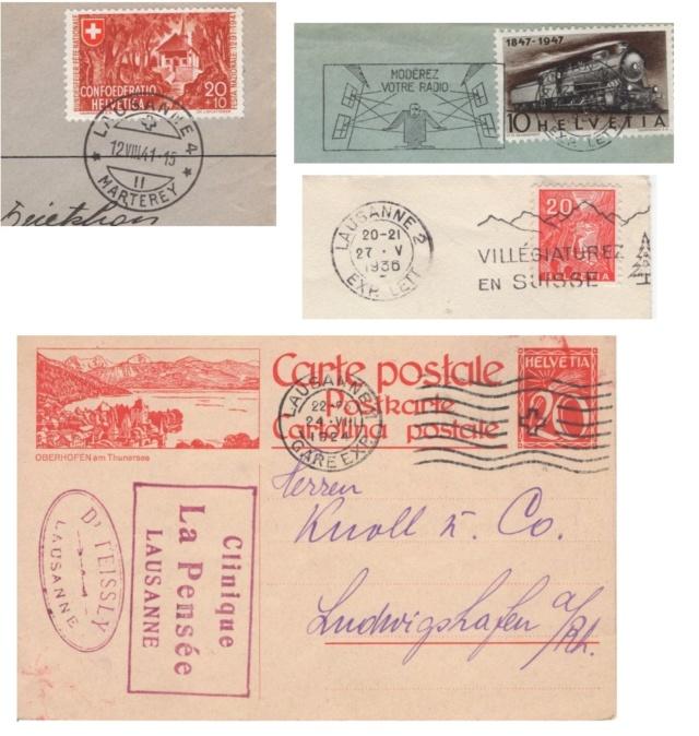 Die Poststempel von Lausanne Lausan10