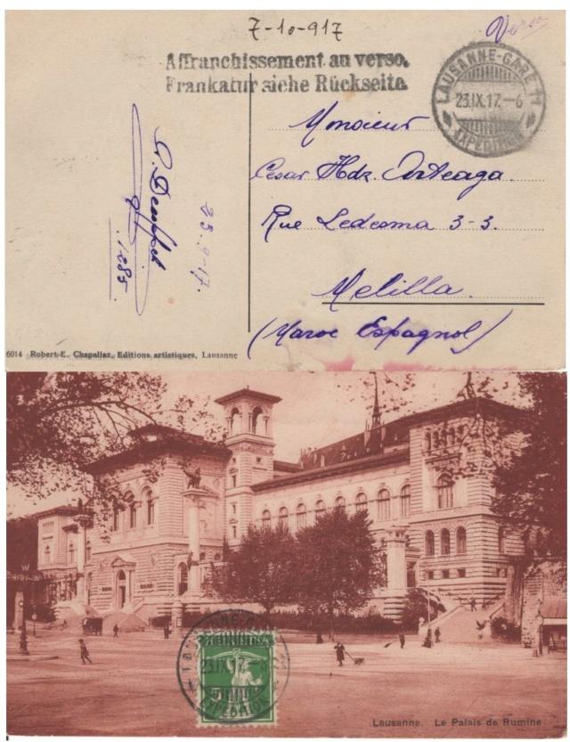 Die Poststempel von Lausanne Lausan11