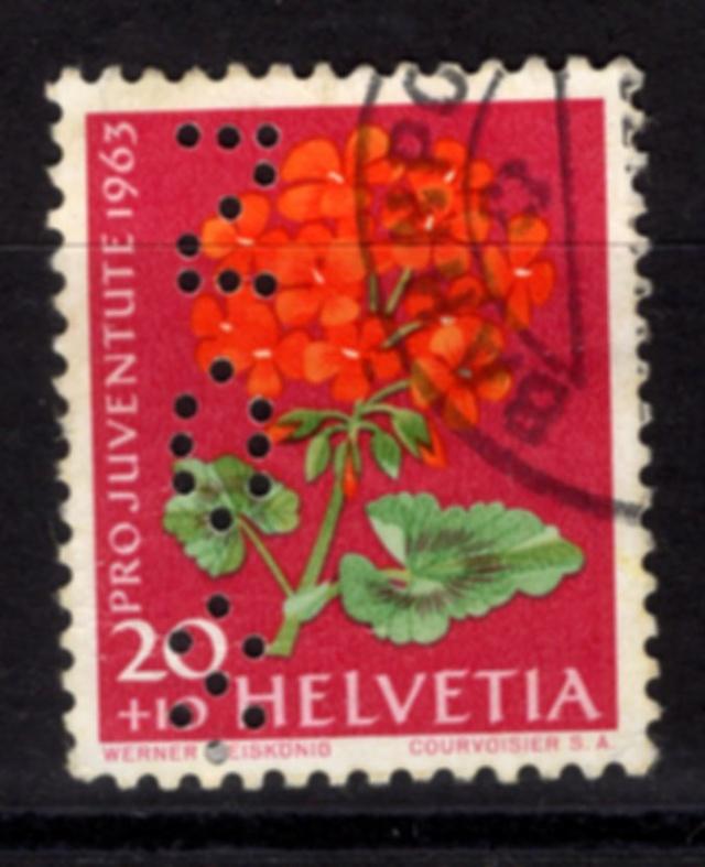 Perfin auf Pro Juventute 1963 Perfin11