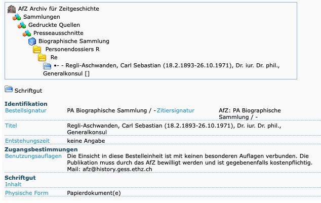 Schweizer Konsulat Vertreter im Zweiten Weltkrieg Regli_11