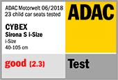 Cybex sirona S i-size recenzija Adac-e10