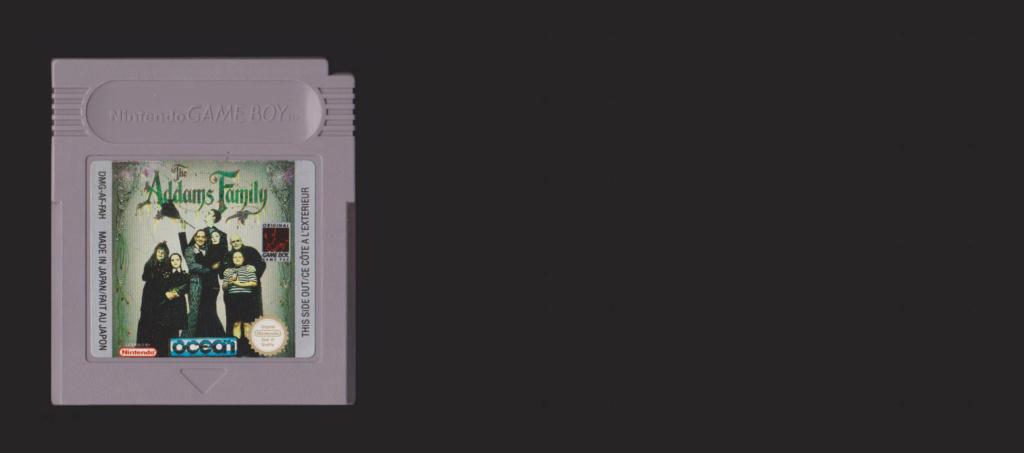 Jeux Gameboy : cartouches, variantes, anecdotes Addams10