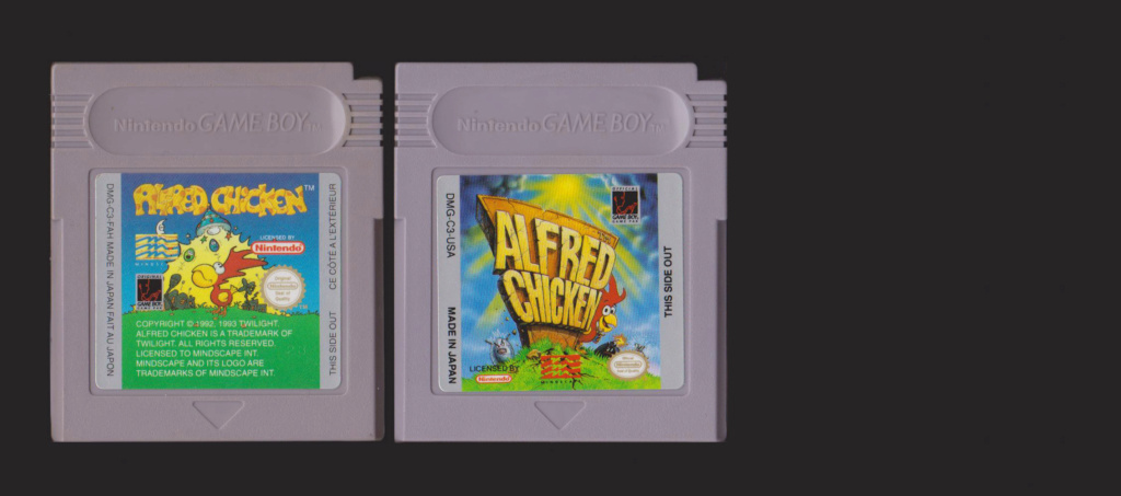 Jeux Gameboy : cartouches et variantes Alfred10