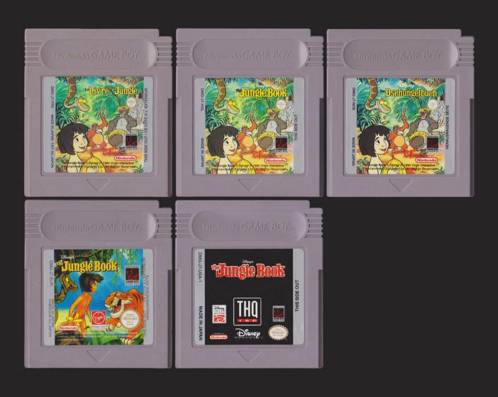 Jeux Gameboy : cartouches et variantes Disney10