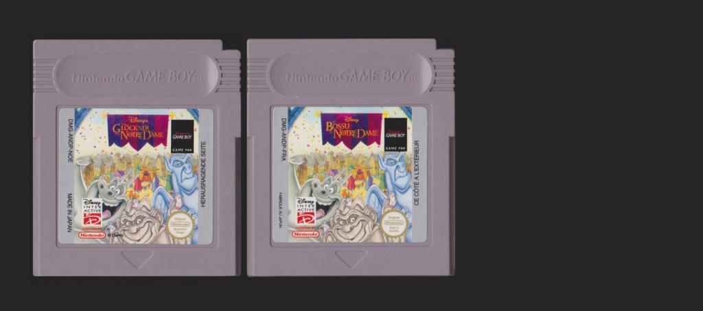 Jeux Gameboy : cartouches et variantes Disney11