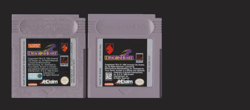 Jeux Gameboy : cartouches et variantes Dragon10