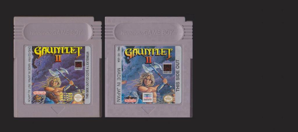 Jeux Gameboy : cartouches et variantes Gauntl10
