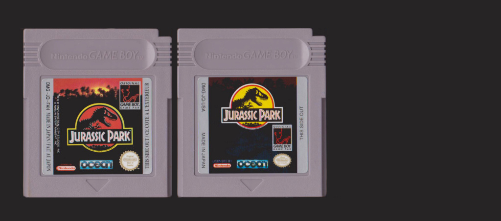 Jeux Gameboy : cartouches, variantes, anecdotes Jurass10