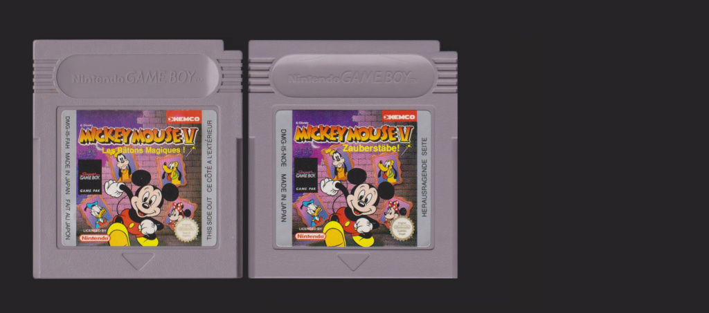 Jeux Gameboy : cartouches, variantes, anecdotes Mickey11