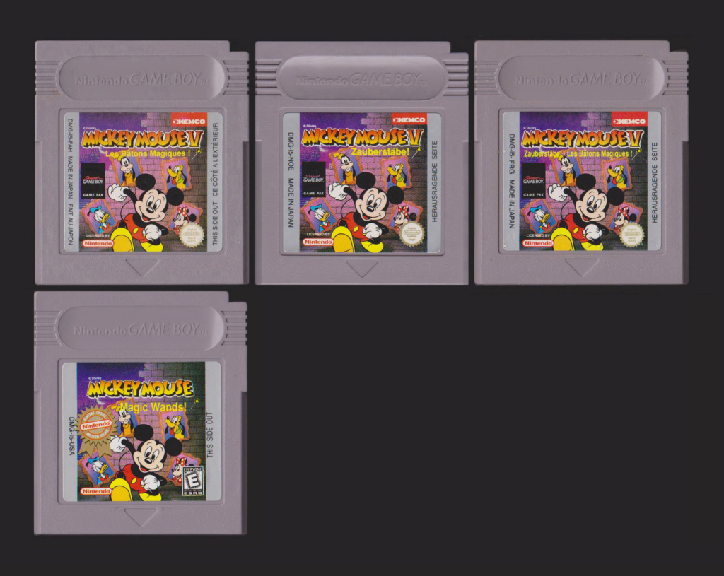 Jeux Gameboy : cartouches et variantes Mickey12