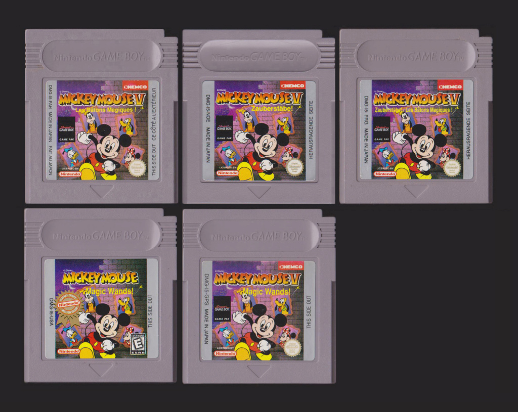 Jeux Gameboy : cartouches et variantes Mickey13