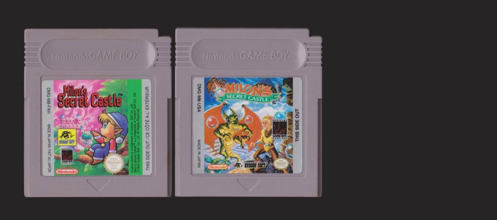 Jeux Gameboy : cartouches, variantes, anecdotes Milons10