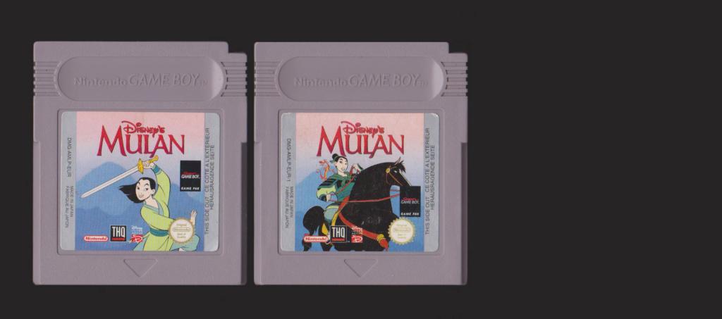 Jeux Gameboy : cartouches, variantes, anecdotes Mulan11