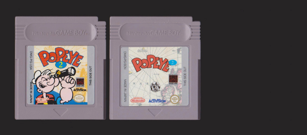 Jeux Gameboy : cartouches et variantes Popeye10