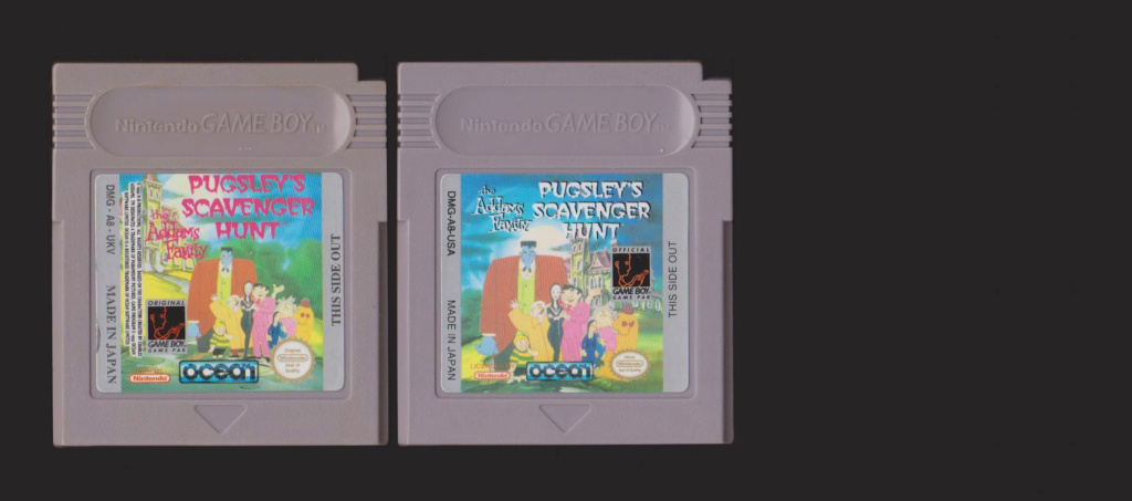 Jeux Gameboy : cartouches, variantes, anecdotes Pugsle10