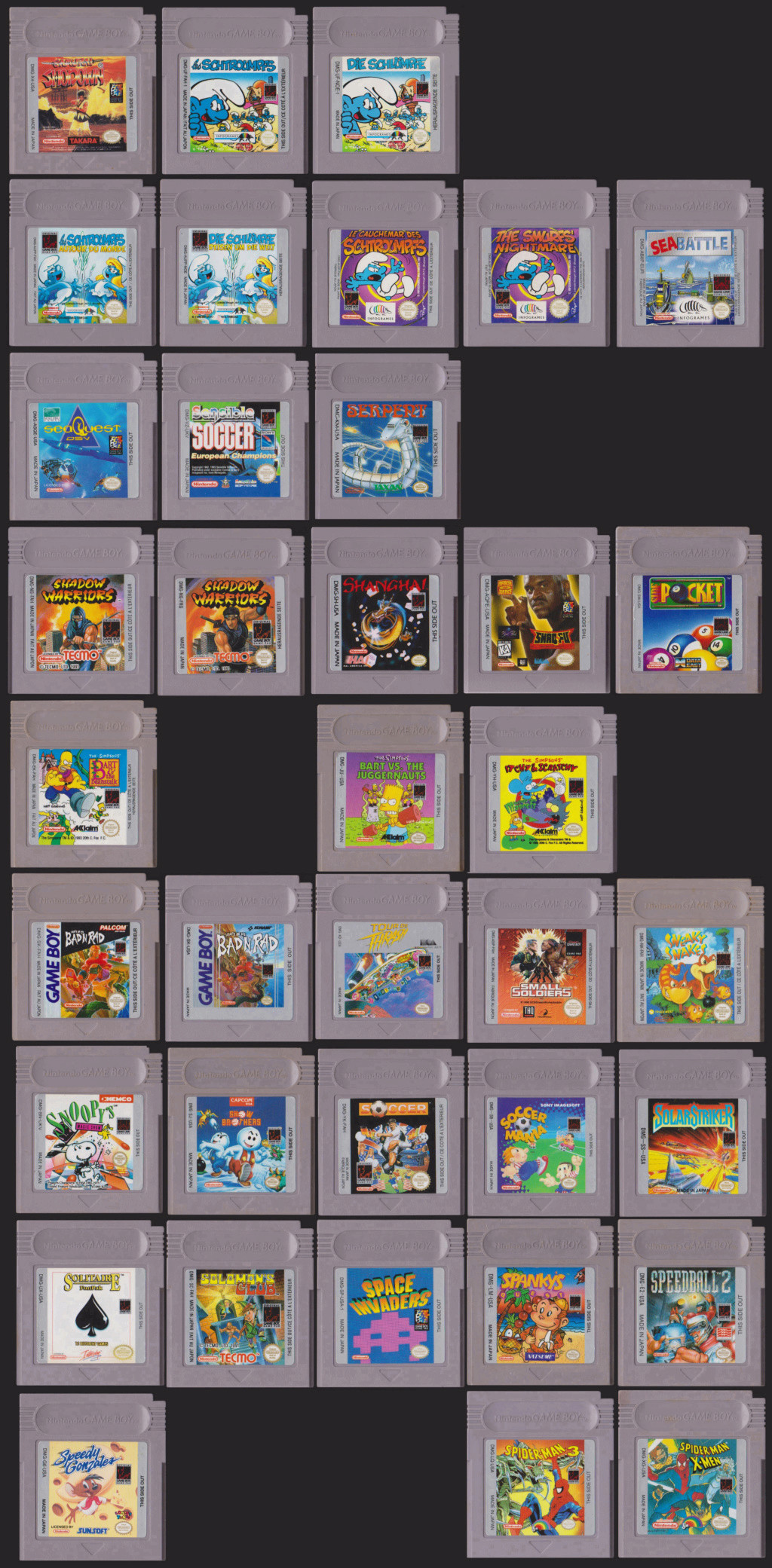 Collection Gameboy S110