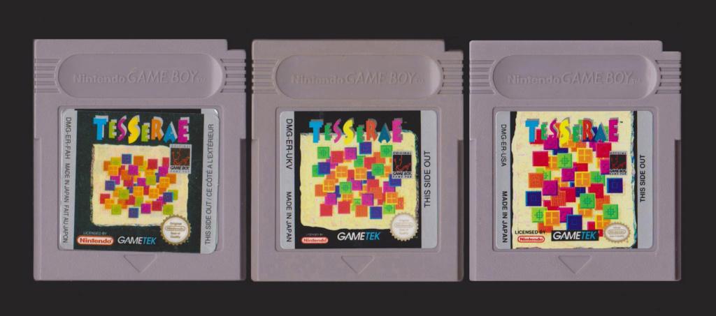 Jeux Gameboy : cartouches et variantes Tesser11