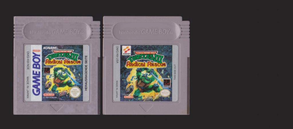 Jeux Gameboy : cartouches et variantes Turtle11