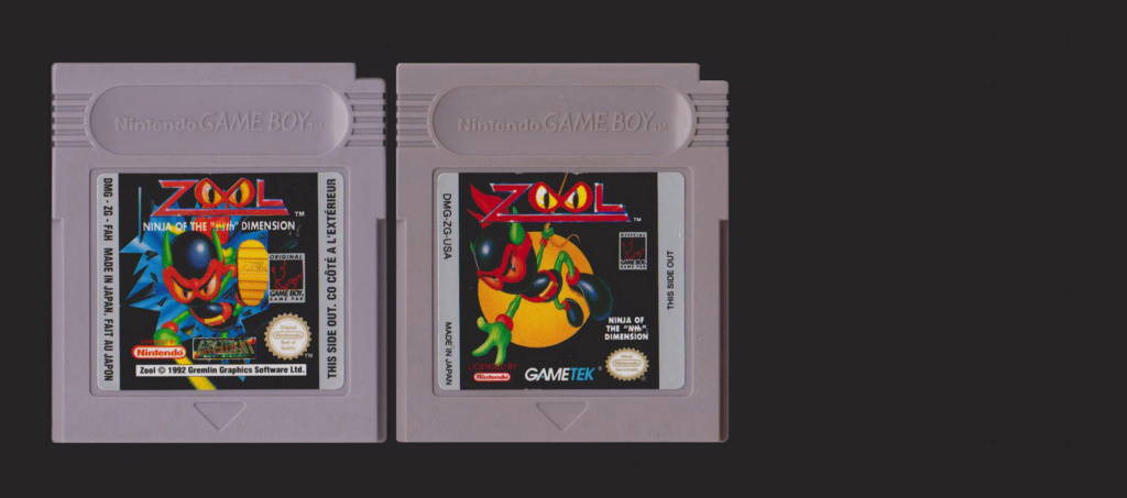 Jeux Gameboy : cartouches, variantes, anecdotes Zool10