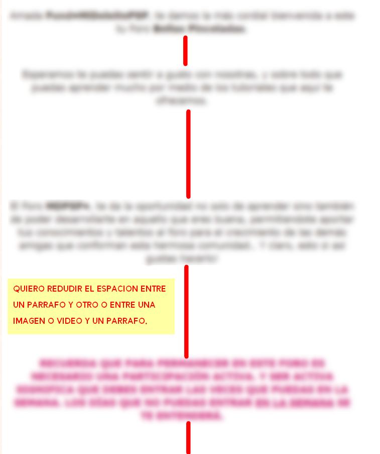Hay algun codigo que ayude por defecto a que no se generen grandes espacios entre los párrafos de un tema? Foro-b21