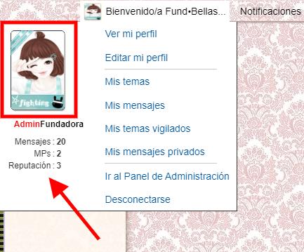 Poner un tamano definido al avatar que se muestra en el toolbar cuando hacemos clic en bienvenido/a  Screen26
