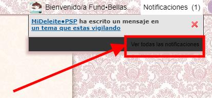 Como cambiar el color del enlace de las notificaciones en el toolbar Screen32