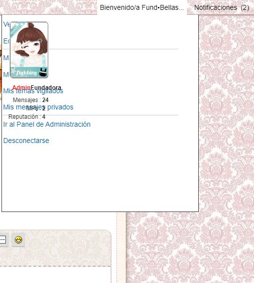 Poner un tamano definido al avatar que se muestra en el toolbar cuando hacemos clic en bienvenido/a  Screen42
