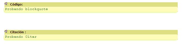 """Como puedo ponerle borde a la caja de codigos: Seleccionar todo (para códigos) y a la caja de """"Citar"""" Screen48"""