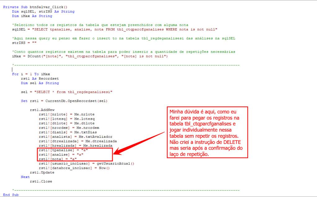 [Resolvido]Subformulário cria registro em outra tabela T321