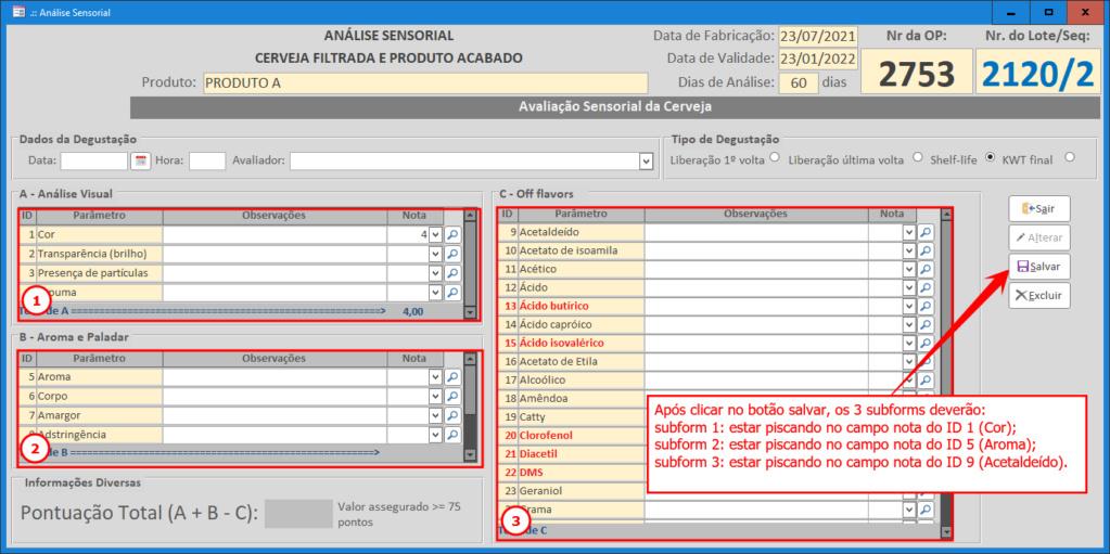 Posicionar subformulário no registro inicial T322