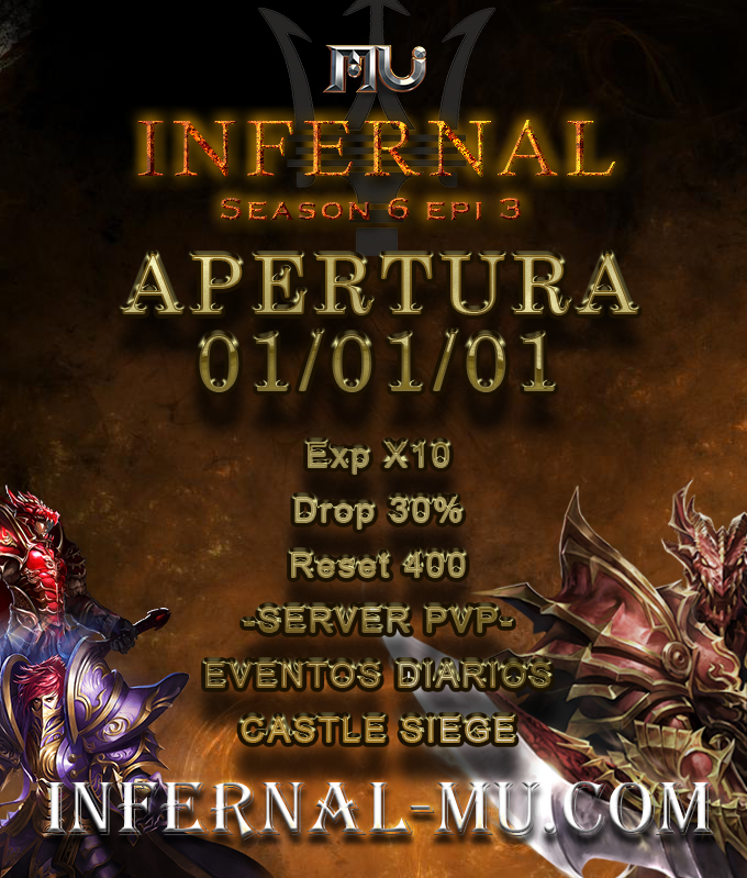 Mu Infernal S6[ Exp: 10x l Drop: 30% ] [01/03/2019 ] Estren11