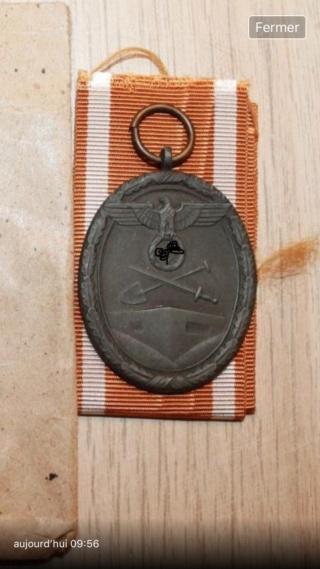 Médaille allemande mur de l'Atlantique Ce3f4210
