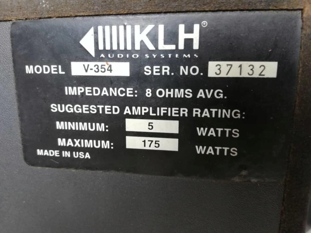 Klh audio v-354 center speaker (used) E2f7ca10
