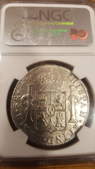 """8 Reales de Carlos III (1783) del pecio """"El Cazador"""" 20191240"""