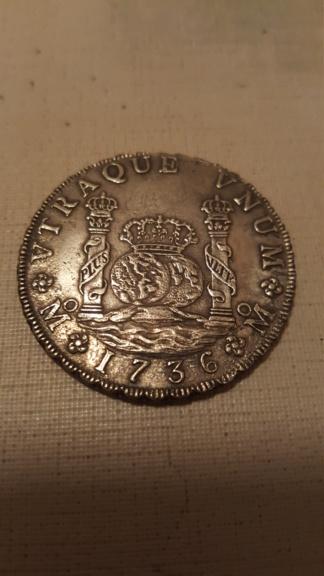 8 reales de Felipe V de 1736 (naufragio) 20201013